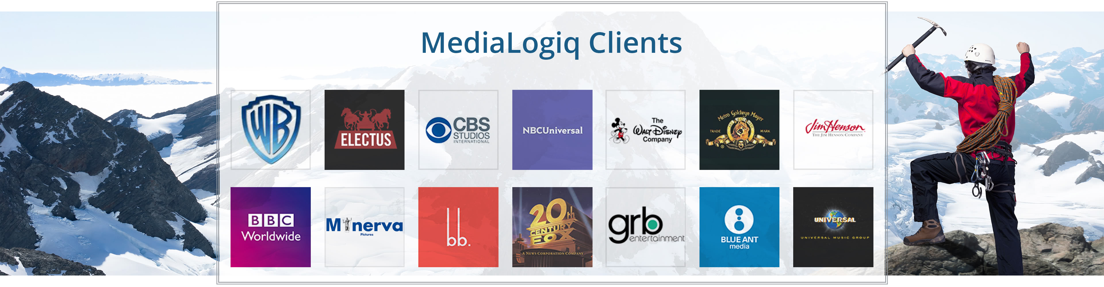 MediaLogiq Systems clients that use MediaRights and ITVR